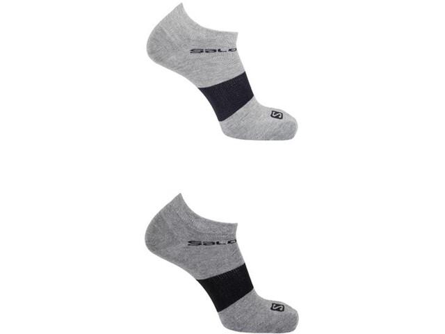 Salomon Festival Socks 2 pack, light grey/medium grey